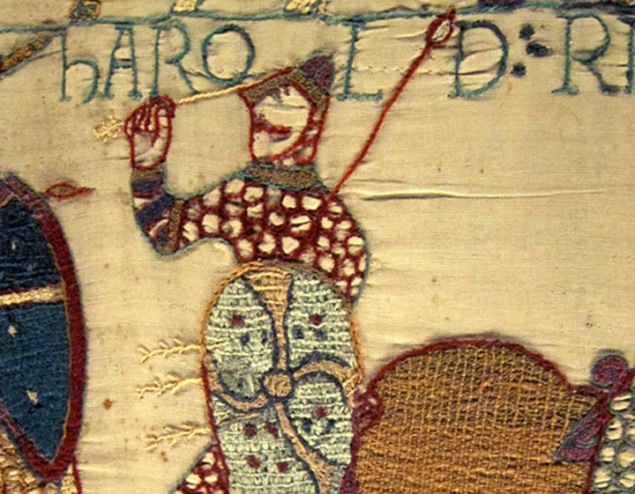 harold shot with arrow, Bayeux Tapestry