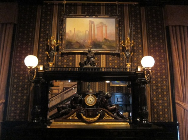 library fireplace, Driehaus Museum