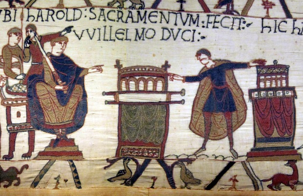 Harold's oath, Bayeux Tapestry