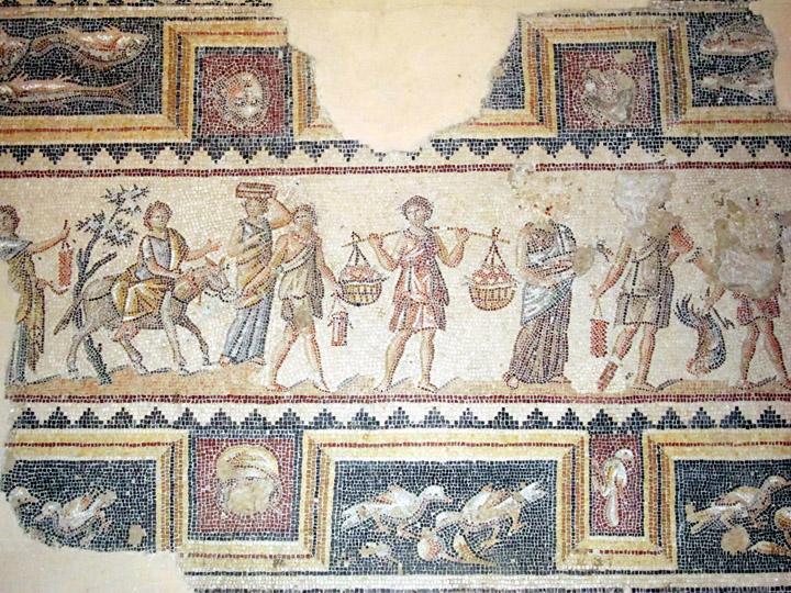 Procession Mosaic, Roman Villa, Sepphoris