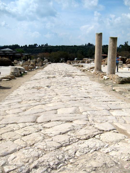 Main road in Sepphoris