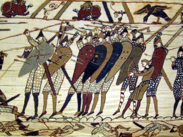 saxon defensive Bayeux Tapestry