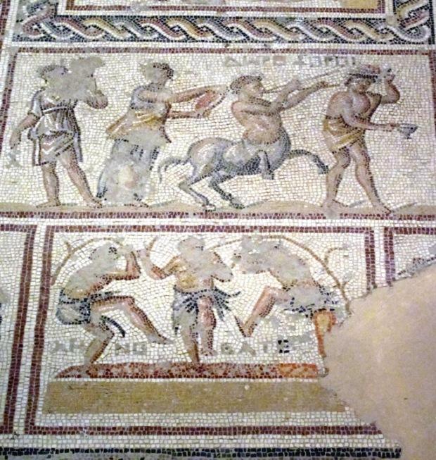 wine detail, oman Villa mosaics, Sepphoris