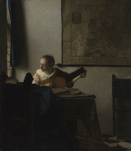 "Johannes Vermeer, ""Girl with a Lute"", Metropolitan Museum of Art, New York City"