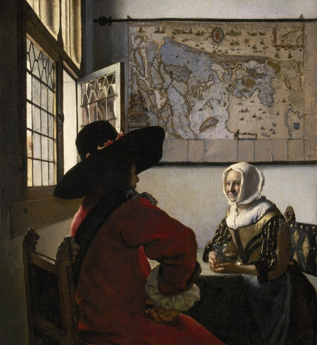 "Johannes Vermeer, ""Officer and Laughing Girl"", c. 1657, Frick Collection, New York City"