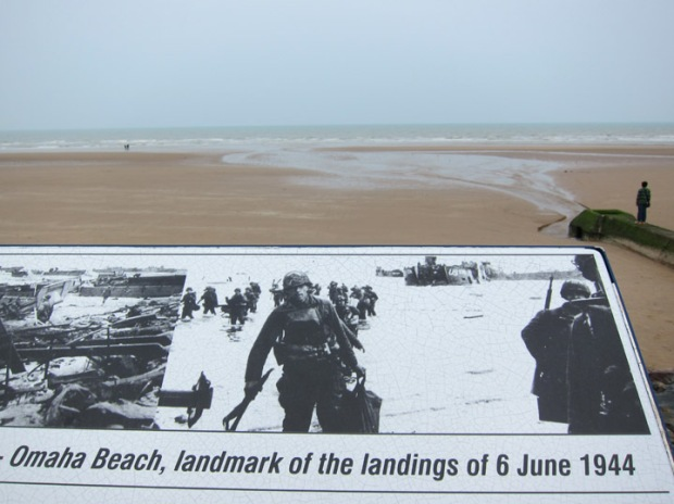 Omaha Beach Memorial Plaque