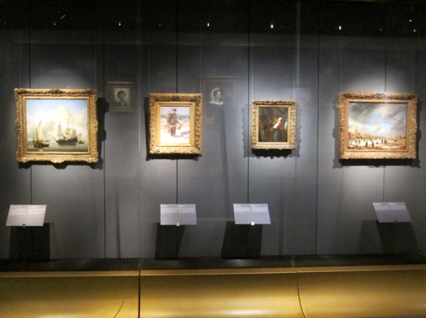 Works on display in the mini Rijksmuseum, Schiphol airport Amsterdam