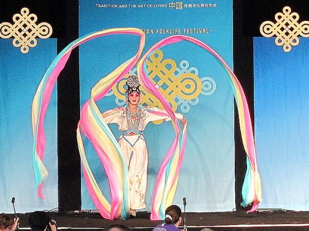 scarf dancer Zhejiang Wu Opera Troupe