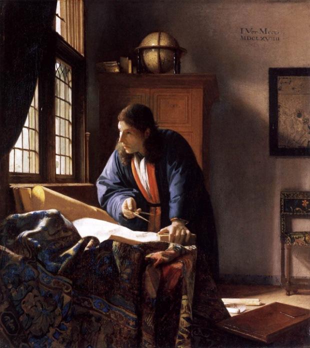 """Johannes Vermeer, """"The Geographer"""", 1668, Städelsches Kunstinstitut, Frankfurt"""