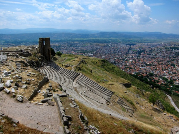 Pergamon theater and Bergama