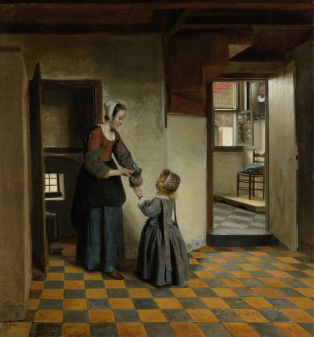 "Pieter de Hooch, ""A Woman with a Child in a Pantry"", Rijksmuseum, Amsterdam"