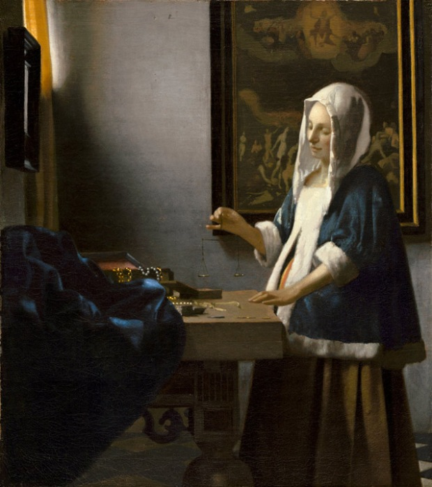 "Johannes Vermeer, ""Woman Holding a Balance"", National Gallery of Art, Washington DC"