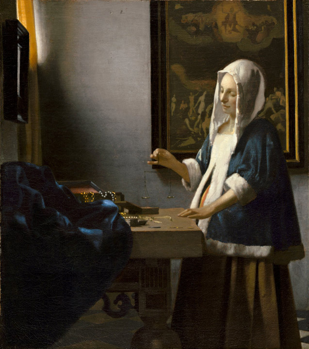 Johannes Vermeer  Woman Holding a Balance  National Gallery of Art Washington & Painting with Light: Vermeeru0027s Interior Scenes | Daydream Tourist