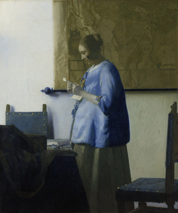 "Vermeer, ""Woman Reading a Letter"",  Rijksmuseum, Amsterdam"