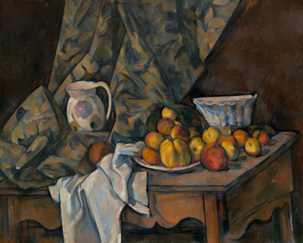 "Paul Cézanne - ""Still Life with Apples and Peaches"""