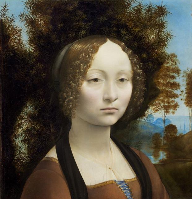 """Leonardo da Vinci - """"Ginevra de' Benci"""""""