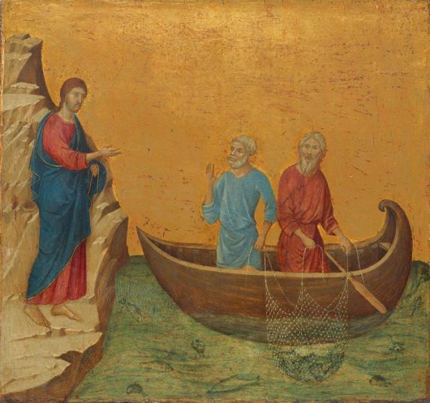 "Duccio di Buoninsegna - ""The Calling of the Apostles Peter and Andrew"""