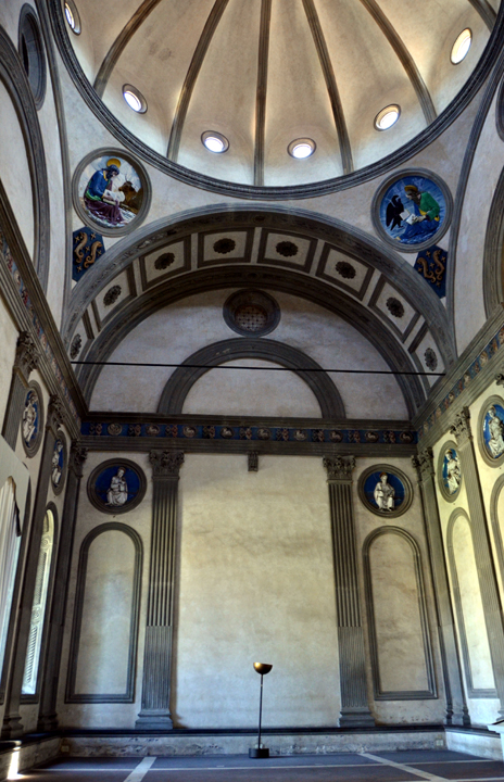 Interior of the Pazzi Chapel