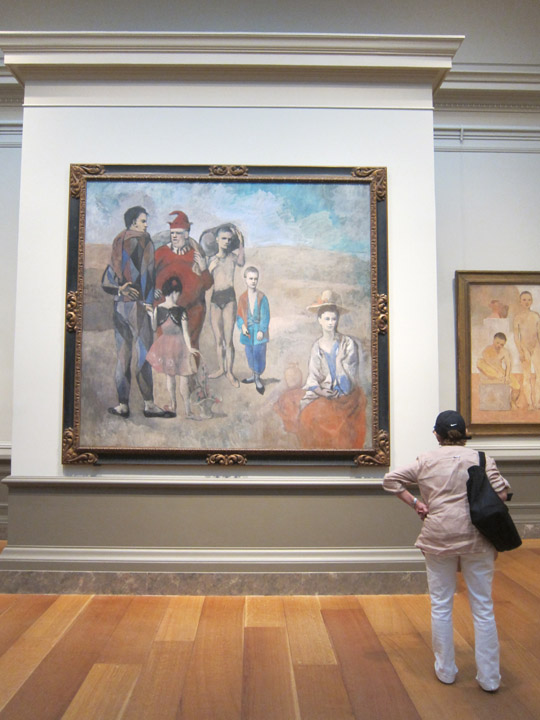"Pablo PIcasso's ""Family of Saltimbanques"" at the National Gallery of Art"