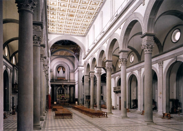 Interior of San Lorenzo Church, Florence