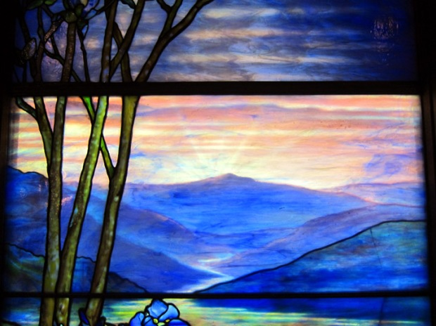 sunrise, tiffany & company window