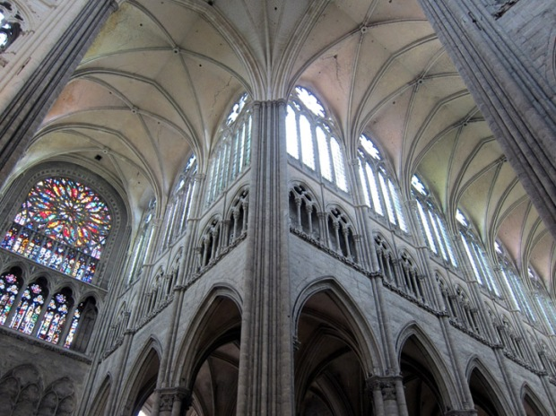 Crossing point from Amiens Cathedral, France
