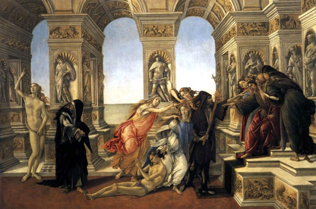 "Sandro Botticelli ""Calumny of Apelles"", Uffizi Gallery"