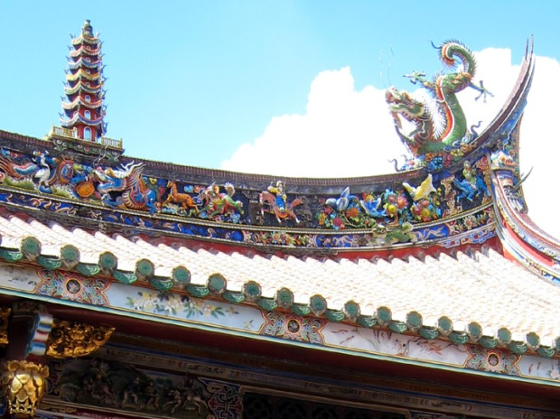 dragon roof, Baoan Temple
