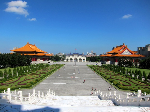 Taiwan National Theater, National Symphony Hall and the Chiang Kai-shek Memorial Gate