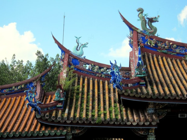 Roof of the Lingxing Gate Taipei Confucius Temple complex