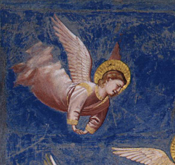 weeping angel, Crucifixion, Giotto