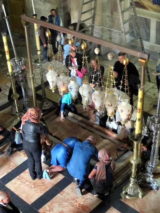 The Stone of Anointing, Church of the Holy Sepulchre