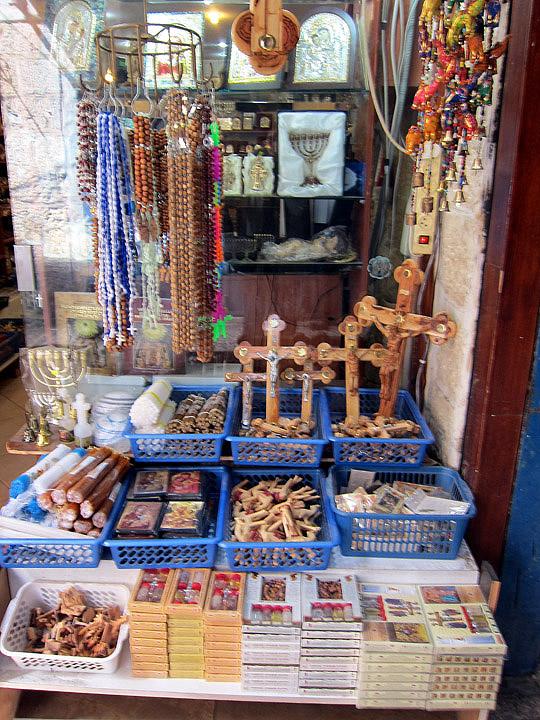 Jerusalem Christian souvenirs