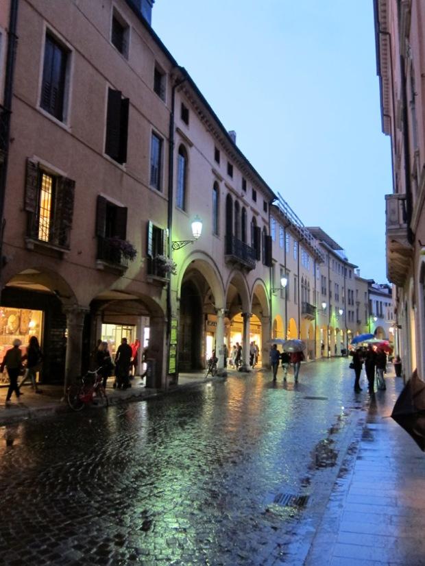 Padua rainy streets