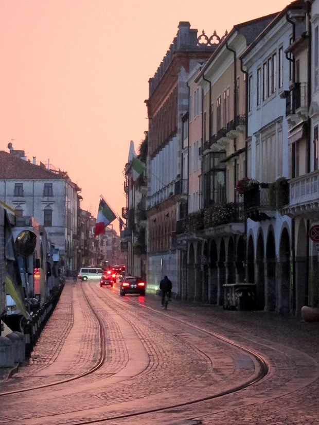 Padua streets at sunset