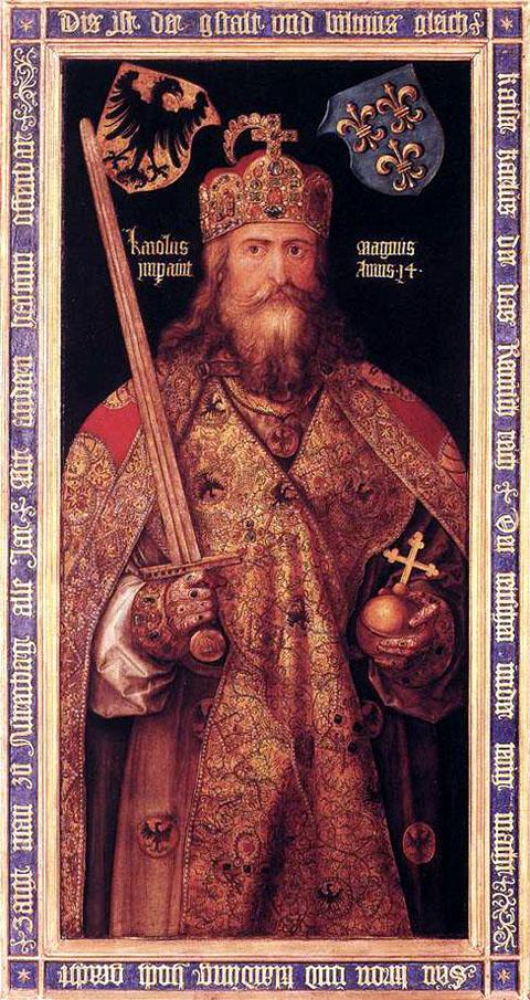 """""""Emperor Charlemagne"""" by Albrecht Durer, 1512."""