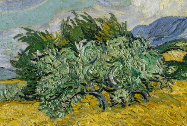 Vincent Van Gogh - Wheat Field with Cypresses (detail),