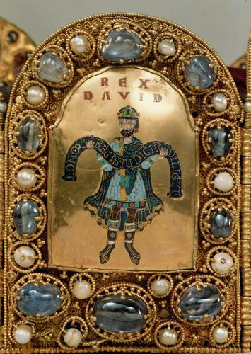 David panel from the Imperial Crown of the Holy Roman Empire