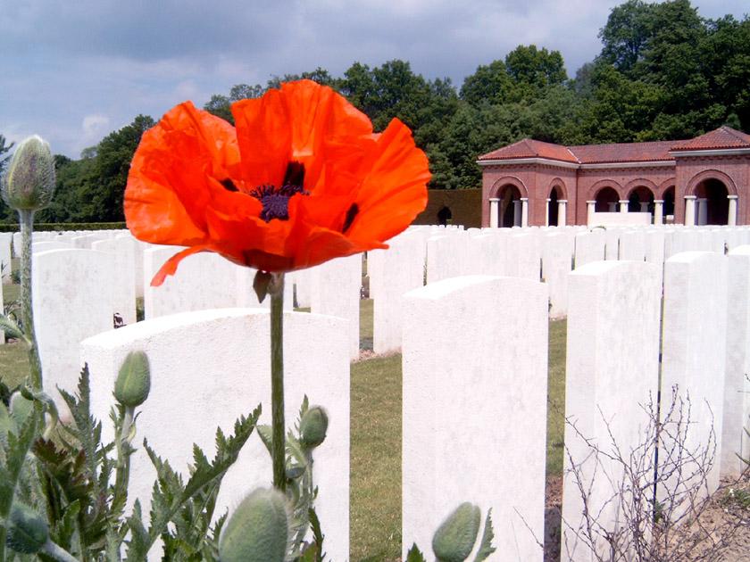 World War I, High Wood cemetery, France