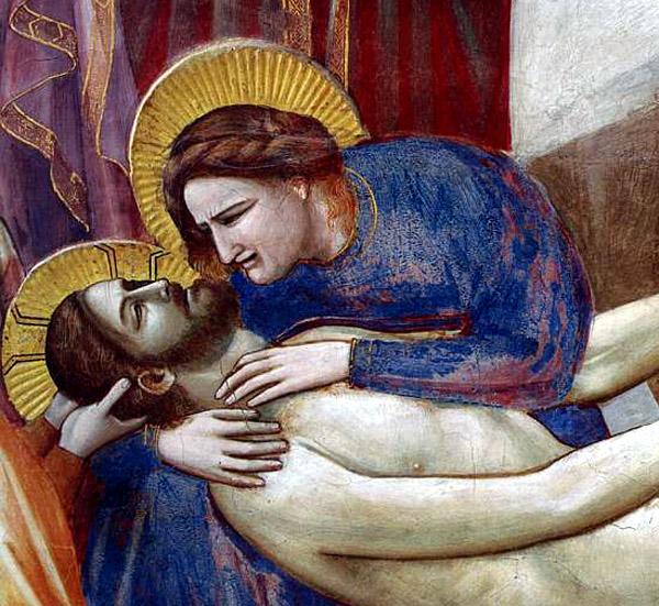 """Giotto di Bondone, """"Scenes from the Life of Christ: 20. Lamentation"""", 1304-1306, Scrovegni Chapel, Padua"""