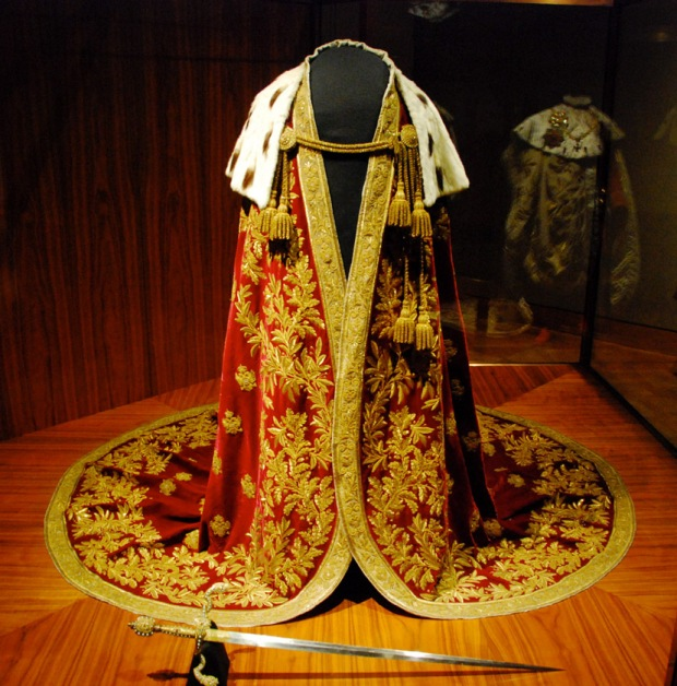 Royal coronation robes on display at the Imperial Treasury Vienna