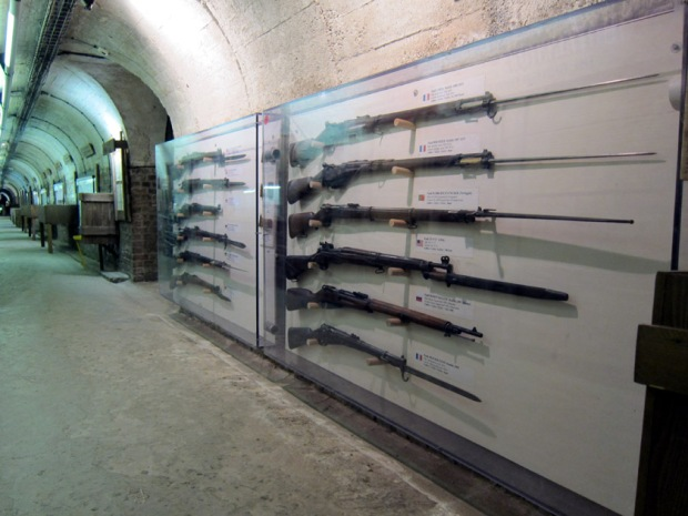 Musee Somme 1916 hallway and gun display