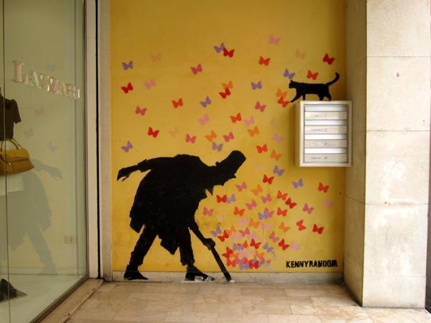butterfly street art