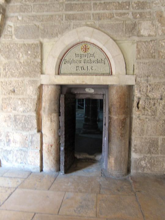 Crusader door narrowed to prevent theft.