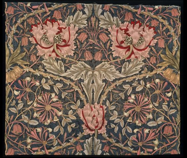 William Morris, Honeysuckle fabric, Art & Crafts