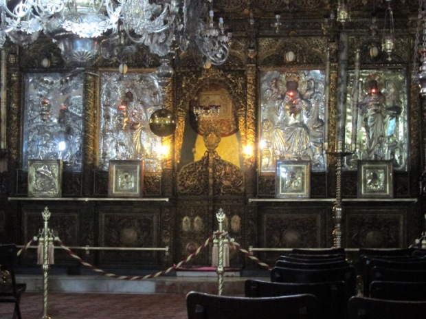 High altar iconostasis, Church of the Nativity, Bethlehem