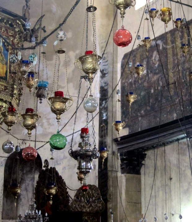 lamps, Church of the Nativity