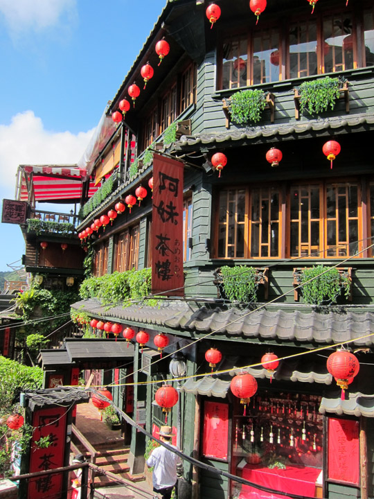 historic teahouse in Jiufen