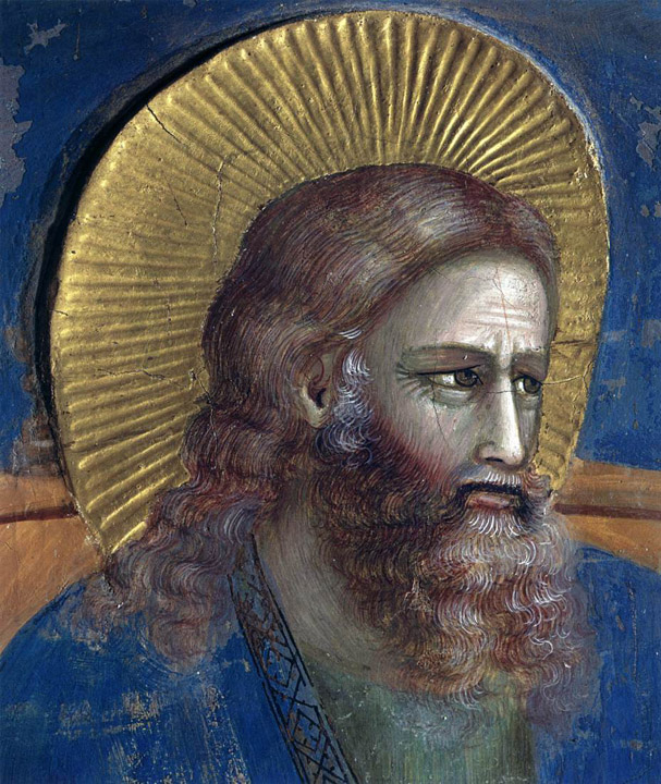 Giotto saint with halo