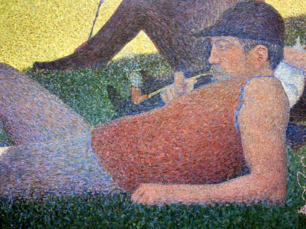 Georges Seurat, detail from A Sunday Afternoon on the Island of La Grande Jatte